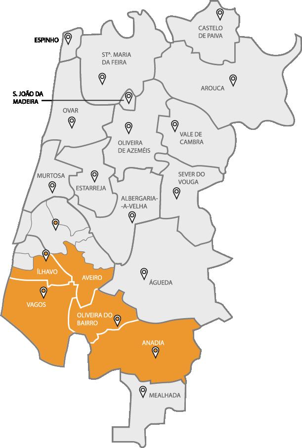 Mapa Gal Sul