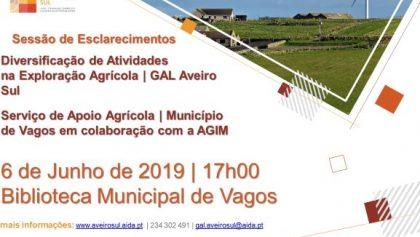 06 de Junho | Biblioteca Municipal de Vagos | Sessão de esclarecimentos