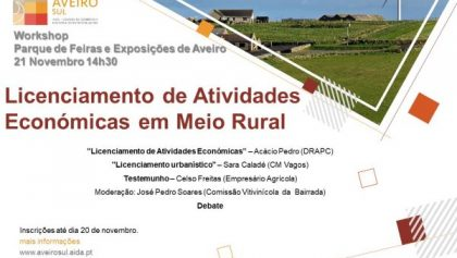 21 de Novembro | Licenciamento de Atividades Económicas em Meio Rural | AGROVOUGA 2019