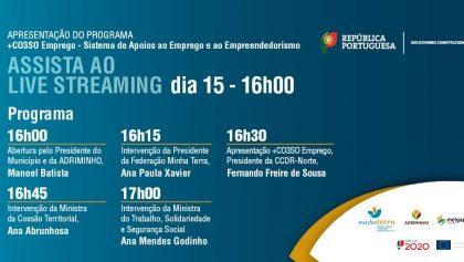 Sessão de apresentação do programa +CO3SO Emprego