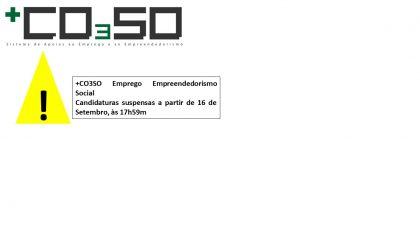 +CO3SO Emprego Empreendedorismo Social – Aviso de Concurso Suspenso